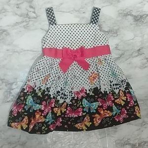Jessica Ann polka dot  butterfly dress